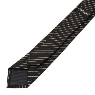 Классический галстук с белыми полосами