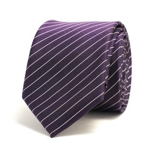 Фиолетовый галстук с белыми полосками