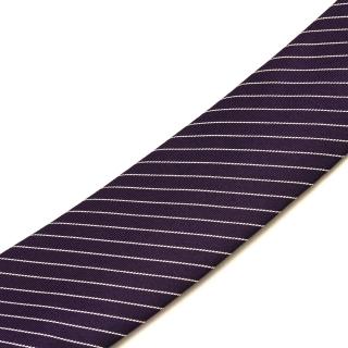 Полосатый фиолетовый галстук