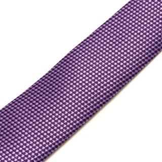 Узкий фиолетовый галстук с фактурой