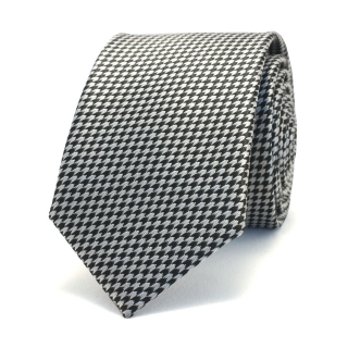 Узкий галстук #032 (черно-белый)