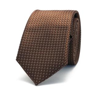 Узкий коричневый галстук с текстурой