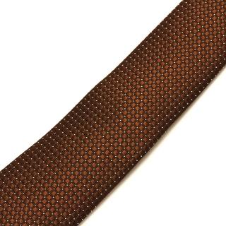 Фактурный коричневый галстук