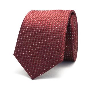 Узкий бордовый галстук фактурный