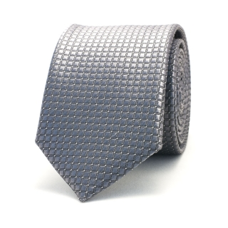 Серый узкий галстук