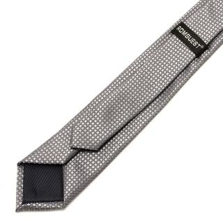 Фактурный серый галстук