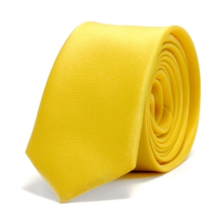 Узкий галстук #036 (желтый)