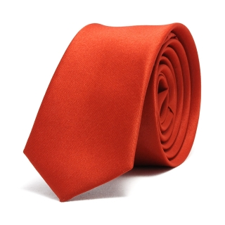 Купить узкий красный галстук для мужчин