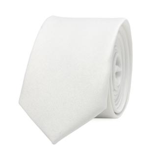 Купить узкий белый галстук