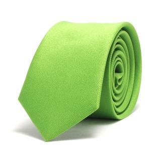 Купить ярко-зеленый однотонный галстук