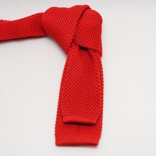 Однотонный мужской вязаный галстук