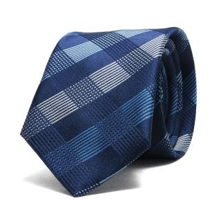 Купить узкий галстук в темно-синюю клетку