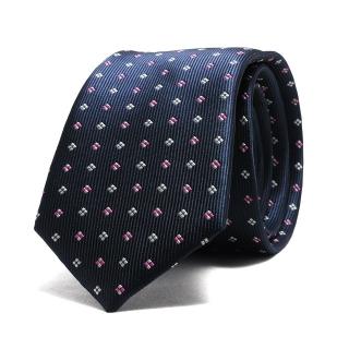 Купить темно-синий галстук с орнаментом