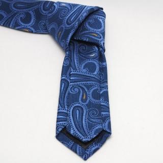 Синий мужской галстук с фактурой