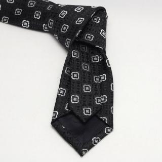 Купить черный галстук с фактурой