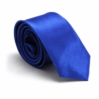 Узкий галстук #053 (синий)