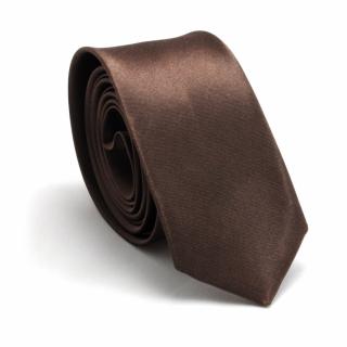 Узкий галстук #054 (коричневый)