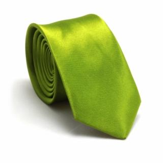 Зеленый однотонный мужской галстук