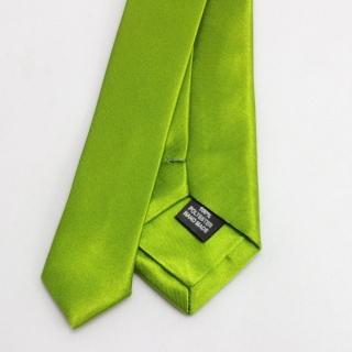Зеленый мужской галстук из полиэстера