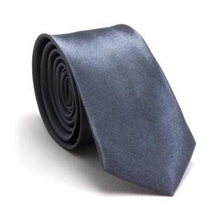Узкий галстук #056 (серый)