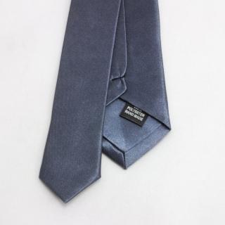 Серебряный галстук узкий