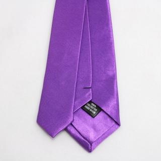 Узкий однотонный лиловый галстук