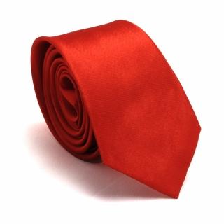 Узкий галстук #058 (красный)