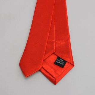 Узкий галстук мужской красный