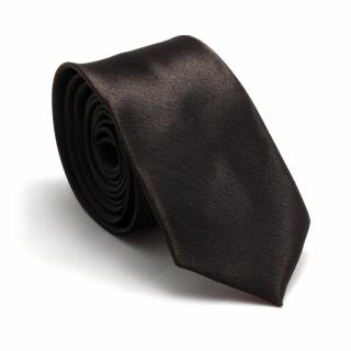 Узкий галстук #059 (шоколадный)