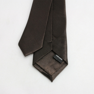 Галстук узкий темно-коричневый