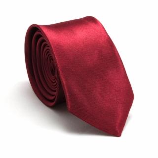 Узкий галстук #060 (рубиновый)