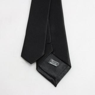 Классический узкий галстук черный