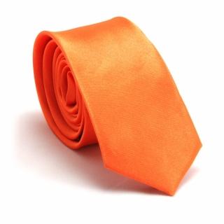 Узкий галстук #062 (апельсиновый)