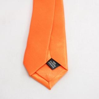 Апельсиновый узкий галстук