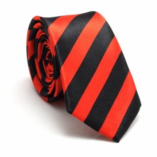 Узкий галстук #064 (полосатый)