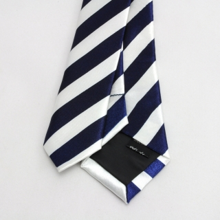 Узкий галстук #065 (полосатый)