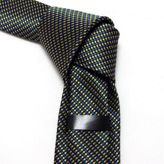 Купить галстук мужской в желто-синюю клетку