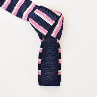 Полосатый вязаный галстук из микрофибры