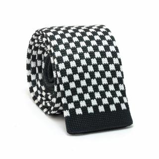Узкий галстук #073 (вязаный шахматный)