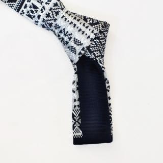 Вязаный мужской галстук из микрофибры