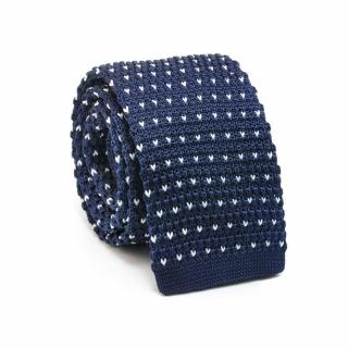 Узкий галстук #075 (вязаный галочки)