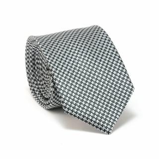 Узкий галстук #076 (серый текстурный)