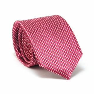 Купить розовый галстук в клетку