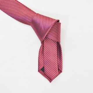 Розовый галстук в белую клетку из вискозы