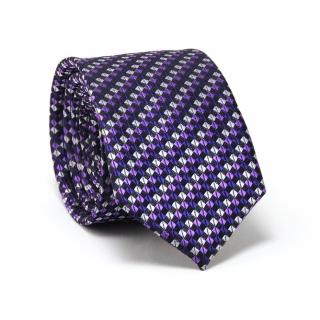 Купить лиловый галстук в клетку