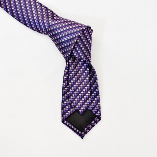 Фиолетовый галстук в клетку из вискозы