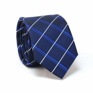 Темно-синий галстук в полоску