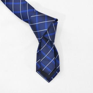 Мужской галстук синего цвета в полоску