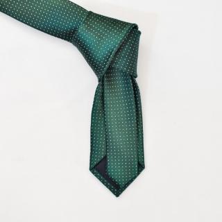 Галстук зеленого цвета с мелкими точками