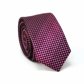 Узкий галстук #089 (розовый в точку)